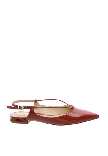 SCHUTZ red SCHUTZ Sling-back Flat Shoes - JOANA (TANGO RED) 8811ASH40221E7GS_1