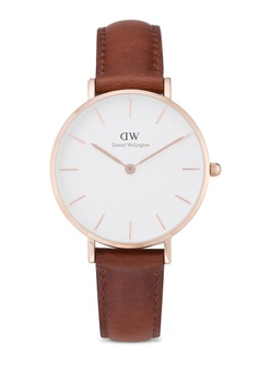 ace21eea44abcb Daniel Wellington brown and gold Classic Petite St Mawes Watch  DA376AC56PLVMY_1