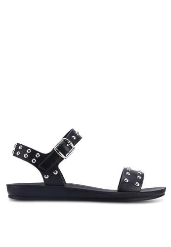Noveni 黑色 鉚釘涼鞋 CAAE1SHCC83620GS_1