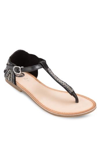 Vesprit home 台灣ernot 閃飾夾趾平底涼鞋, 女鞋, 鞋