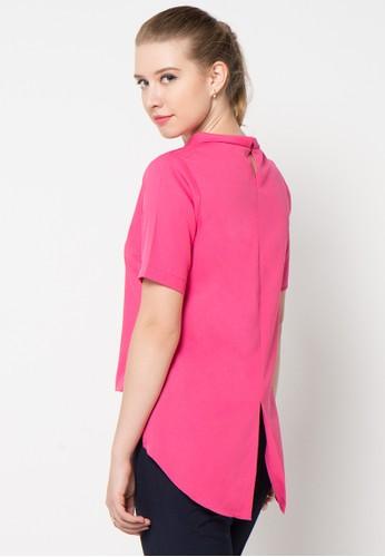Raspberry pink Atika Hi Low Blouse RA572AA52JBNID_1