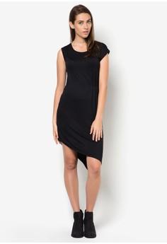Asymmetric Hem With Side Pleated Dress
