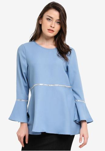 BYN blue Muslimah Blouse BY059AA0S0Y7MY_1