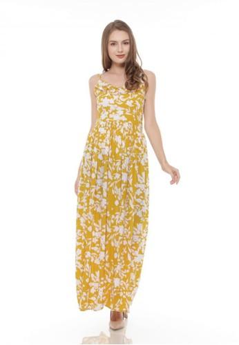 Just Jo Design yellow Bella Maxi Dress - Mustard Floral 5E3DFAAB95966DGS_1