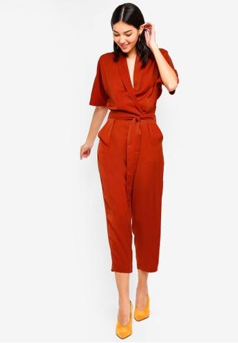a3b652584d Buy ZALORA Kimono Sleeves Wrap Jumpsuit Online