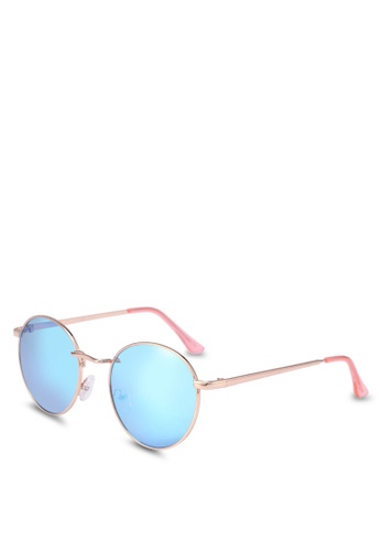 Rubi blue and gold Emmi Metal Sunglasses E161DGLAE2D446GS_1
