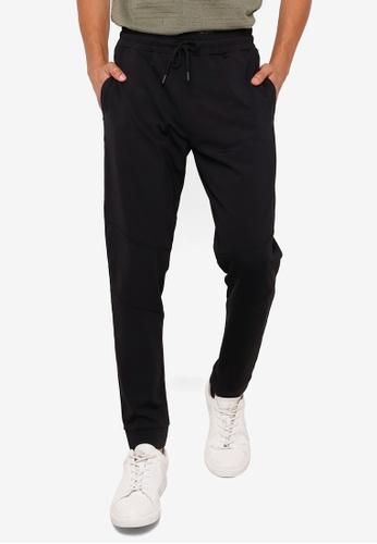 KOTON black Classic Drawstrings Sweatpants E9C70AABA4FC8CGS_1
