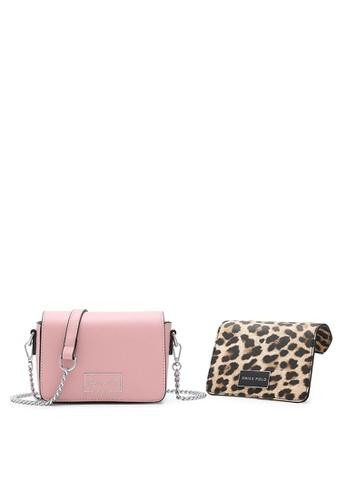 Swiss Polo pink Logo Sling Bag B58EDAC587976DGS_1