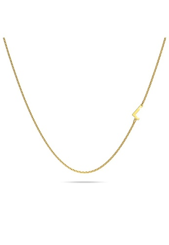 Bullion Gold gold BULLION GOLD Bold Alphabet Letter Initial Charm Necklace in Gold Tone - L BFD87ACA01942AGS_1