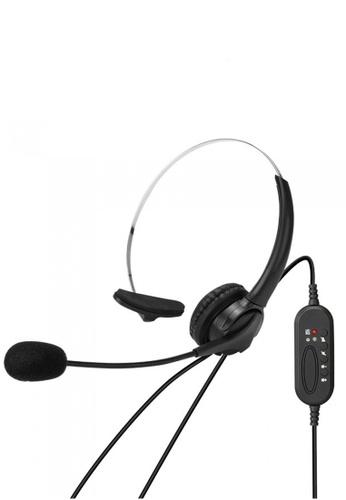 Latest Gadget black Single Side USB Headset With Mic 35647ES6F2E46DGS_1