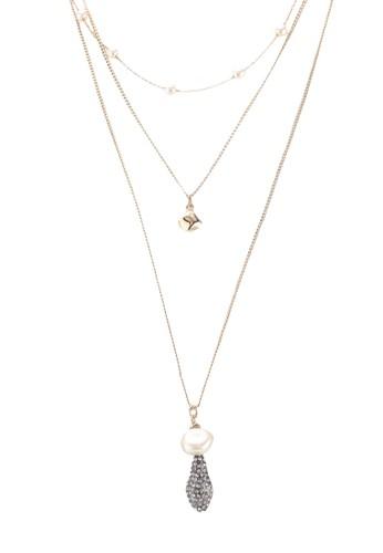 MANGO gold Pearl Pendant Necklace 8C3F8AC96D16CCGS_1