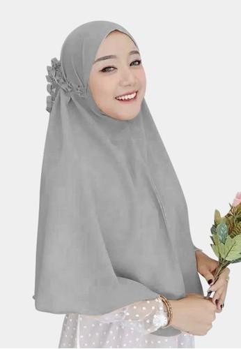zelena silver Hijab Instan Daily Bergo Kanisa Tali Kriwil - Light Grey 55084AA6F77B1DGS_1