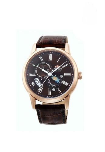 Orient brown Orient Sun & Moon Men Classic Mechanical ORSAK00003T 70A49AC56786C5GS_1