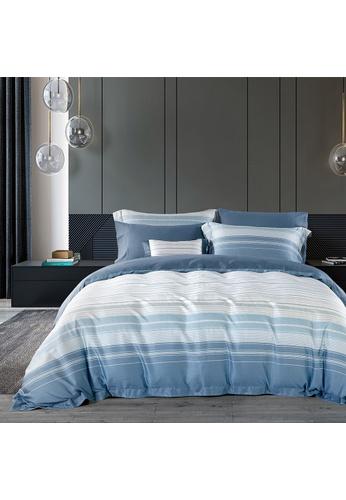 Epitex blue Cressent Dale 1600TC 100% Tencel CE2805 Bedset B44A9HLF96D81FGS_1