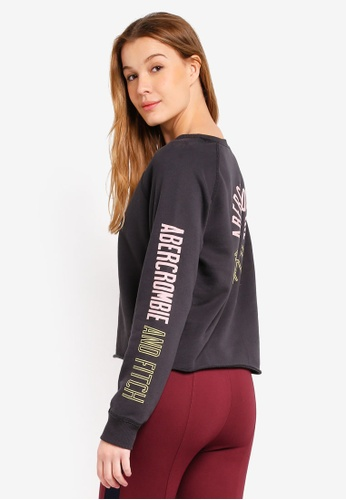 Abercrombie & Fitch grey Seasonal Logo Crew Sweatshirt 925DAAA45C69FBGS_1