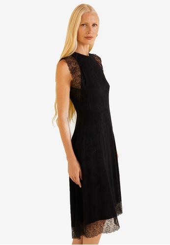 Mango black Textured Jacquard Dress 4CDF0AAB88DCF4GS_1