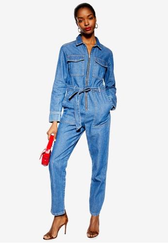 fff34f23134 TOPSHOP blue Denim Utility Boilersuit A47EEAAC23D828GS 1