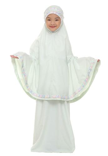 SITI KHADIJAH green Siti Khadijah Telekung Cilik Samira in Mint Green 96967AA37AA0CCGS_1