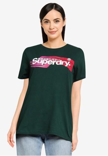 Superdry green Core Logo Cali Tee - Original & Vintage 7A0A0AAA649275GS_1