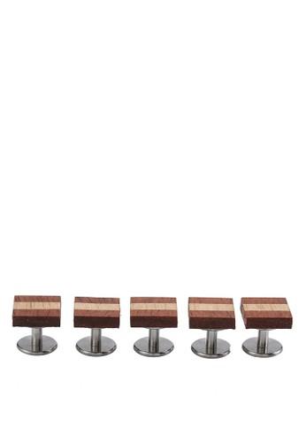 木製esprit手錶專櫃條紋鈕扣組合, 飾品配件, 首飾