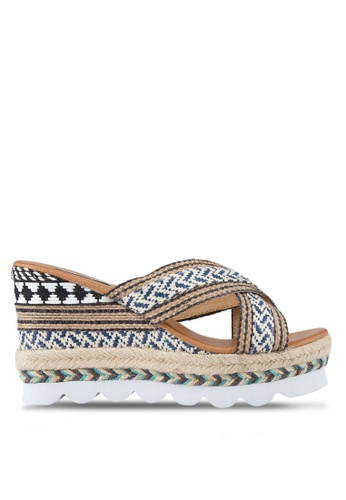Nose blue and multi Hemp Rope Slip-On Wedges NO327SH42SLHMY_1