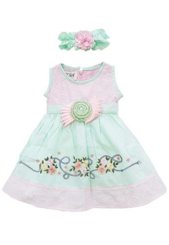 FIYORA multi Leslie Cotton Baby Girl Dress 77693KA5B12ECDGS_1