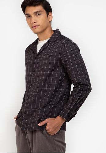 ZALORA BASICS multi Long Sleeves Bowling Shirt C4FDFAAC93F40FGS_1