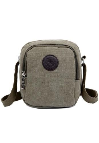 Jackbox green Classic Design Canvas Shoulder Messenger Sling Bag 332 (Army Green) JA762AC37TECMY_1