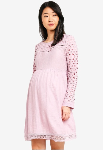Spring Maternity 粉紅色 孕婦裝 層次洋裝 09861AAB7FB619GS_1