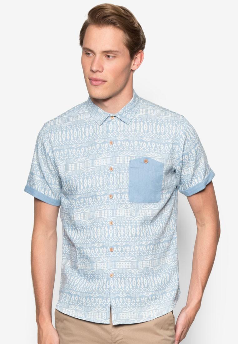Slim Fit Short Sleeve Tribal Shirt