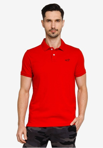 Hollister red Core Polo Shirt 7E085AAE1A217EGS_1