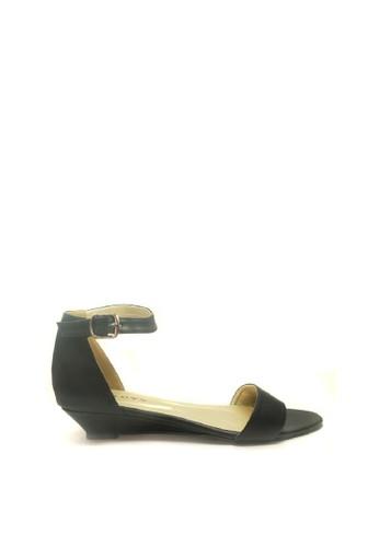 Beauty Shoes black Beauty Shoes 1299 Roseline Flat Black 980FASH314042BGS_1
