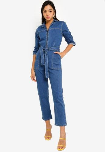 Mink Pink blue Keeping Time Boiler Suit BF0BDAAE34CB38GS_1