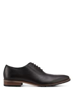 ZALORA brown Calf Leather Lace Up Dress Shoes B197CSH32B82B7GS_1