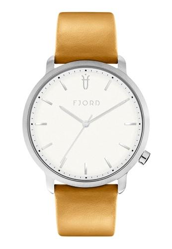 Fjord brown Fjord Men's Genuine Leather Watch - FJ-3033-03 1B521AC0141306GS_1