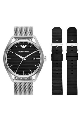 EMPORIO ARMANI silver Watch AR80055 37FCDAC1BDC565GS_1