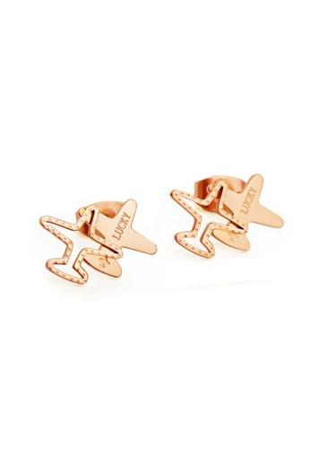 CELOVIS gold CELOVIS - Skye Airplane Stud Earrings in Rose Gold F1A1EAC352CF55GS_1