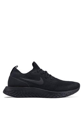 Nike black Nike Epic React Flyknit Shoes 7B38DSH9CF093FGS_1