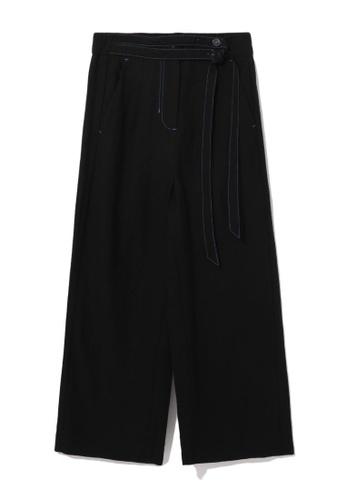 tout à coup black Double strap culotte pants 0359CAAC3B7BD9GS_1