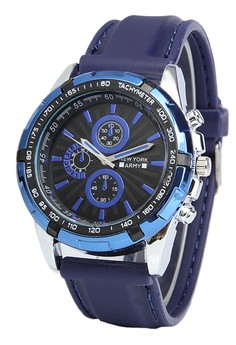 Newyork Army Men's Blue Silicon Strap Watch NYA2658