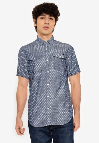 Superdry blue Short Sleeves Denim Loom Shirt - Original & Vintage DDB1CAA6C8978BGS_1