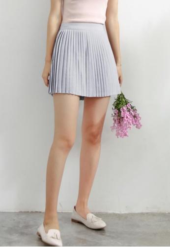 Shopsfashion grey Mini Pleated Skirt in Grey SH656AA59HCYSG_1