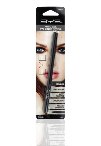 BYS black Auto Gel Eyeliner Pencil in Black BY206BE55WJSPH_1