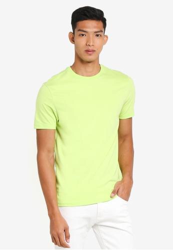 Topman green Lime Slim T-Shirt DD262AA609AF67GS_1