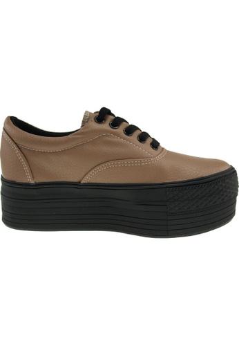 Maxstar brown Maxstar Women's C50 5 Holes Platform PU Low Top Sneakers US Women Size MA164SH72PRNSG_1