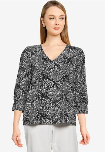 JACQUELINE DE YONG black Barcelona Long Sleeve Top 37515AA0E07077GS_1