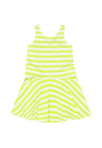 FOX Kids & Baby white Striped Sleeveless Dress 2562BKAB3BD3A9GS_1