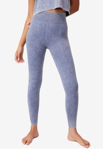 Cotton On Body blue Lifestyle Seamless 7/8 Yoga Tights 3093AAA5D5478CGS_1
