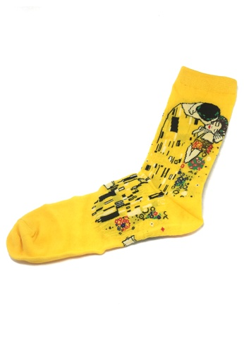 Splice Cufflinks Illustrious Series Yellow The Kiss Socks SP744AA68XITSG_1