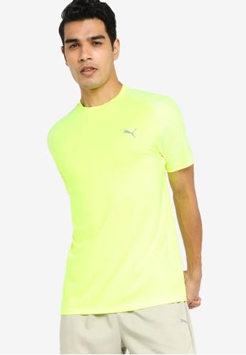 PUMA yellow Active Polyester Men's Tee 1E619AA5130962GS_1